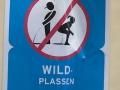 Öffentlich Pinkeln verboten