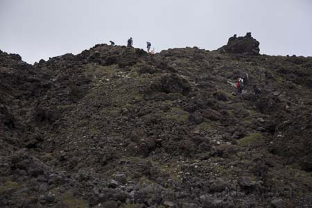 Tongariro Crossing, Hell's Staircase bis South Crate