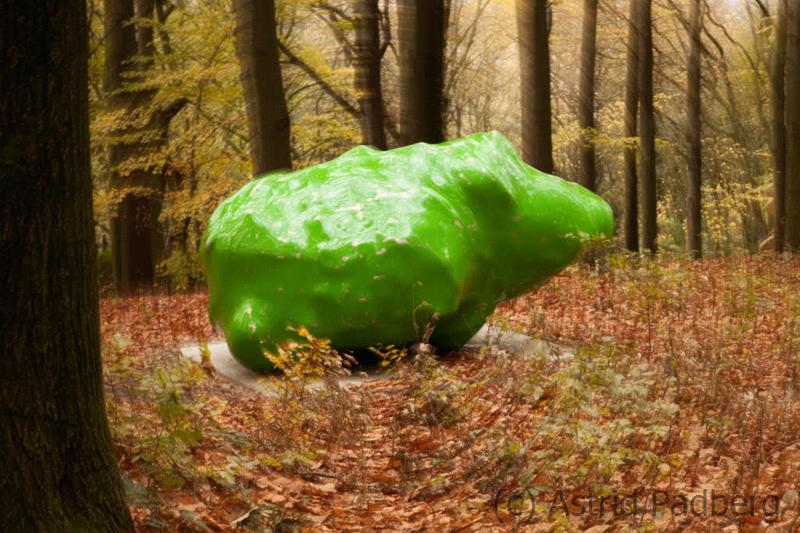 Skulpturenpark Waldfrieden, Wilhelm Mundt, Trash Stone, grün
