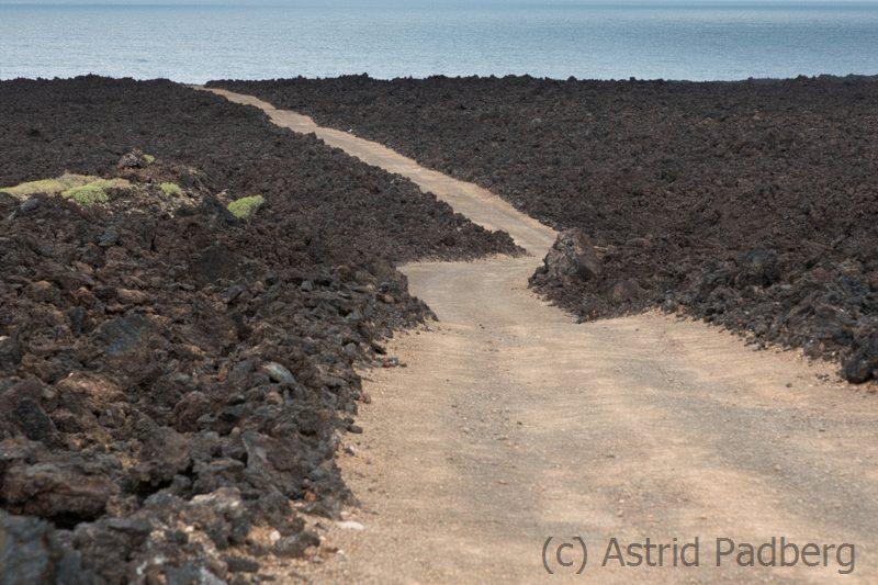 Weg zur Playa del Poso