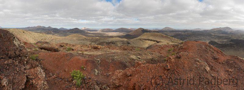 Ausblick von der Montaña Colorada