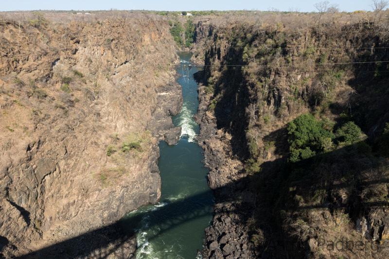 Seilkontrolle bei der Victoria Fall's Bridge