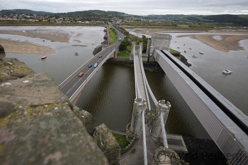 Conwy Castle, drei Brücken