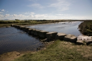 Stepping Stones über den Afon Braint