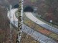 Blick zum Eingang des Burgholztunnels