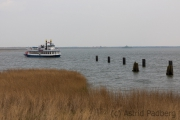 Raddampfschiff im Bodden