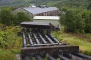 Wasserrohre zum Kraftwerkt