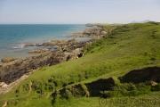 Steilküste auf dem Weg von Morfa Nefin nach Carrog Farm