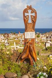 Osterinsel, Hanga Roa, Friedhof Tahai