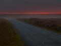 Mainland, Sonnenuntergang im Nebel