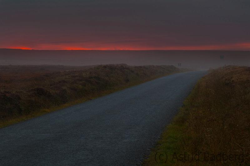 Sonnenuntergang im Nebel, Mainland
