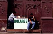 Money changers in Trujillo; Peru