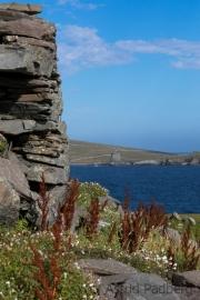 Broch of Burraland, Blick auf Mousa Broch