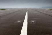 Sumburgh, Flughafen-Landebahn