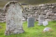 Hirta, Dorf, Friedhof